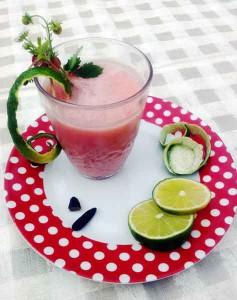 Rezept für einen Erdbeersmoothie