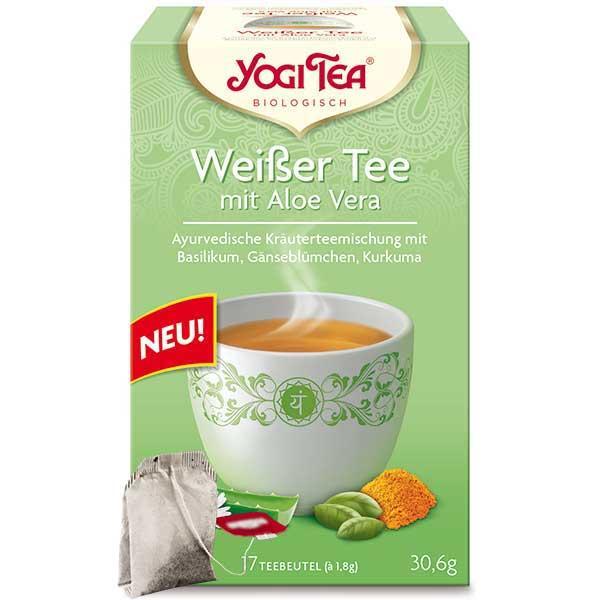 Yogi Tee Weißer Tee Aloe Vera