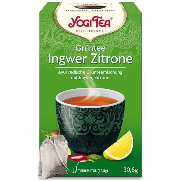 Yogi Tee Grüntee Ingwer Zitrone Tea