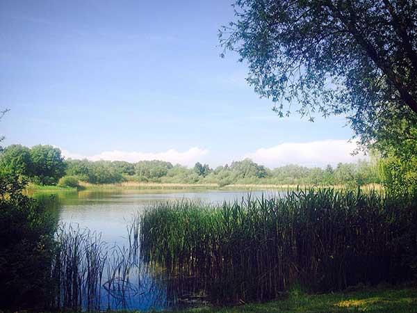 Der See direkt an unserem Lager.