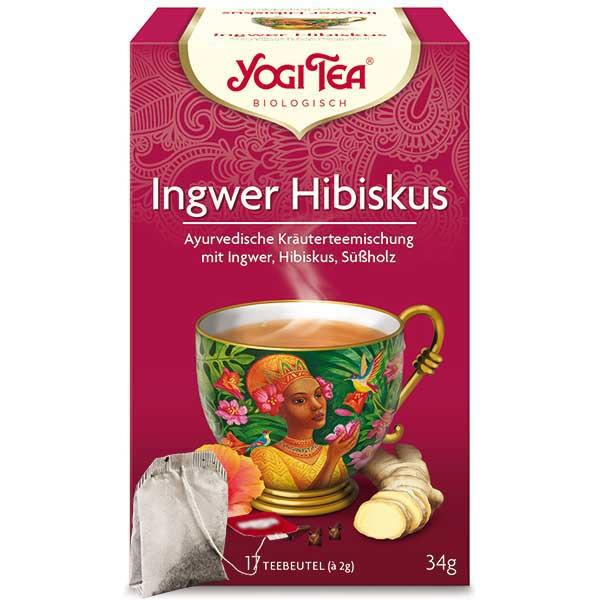 Yogi Tee Ingwer Hibiskus Tea